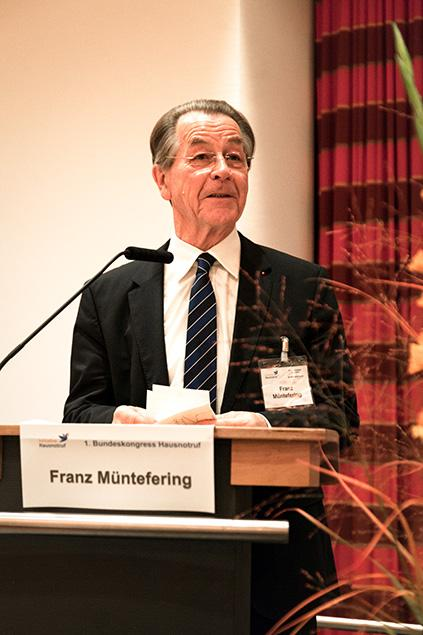 Initiative Hausnotruf Schirmherr Franz Müntefering