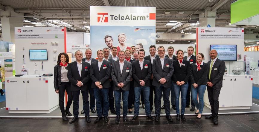 L'équipe du salon de TeleAlarm et de Leesys au salon Altenpflege 2018.