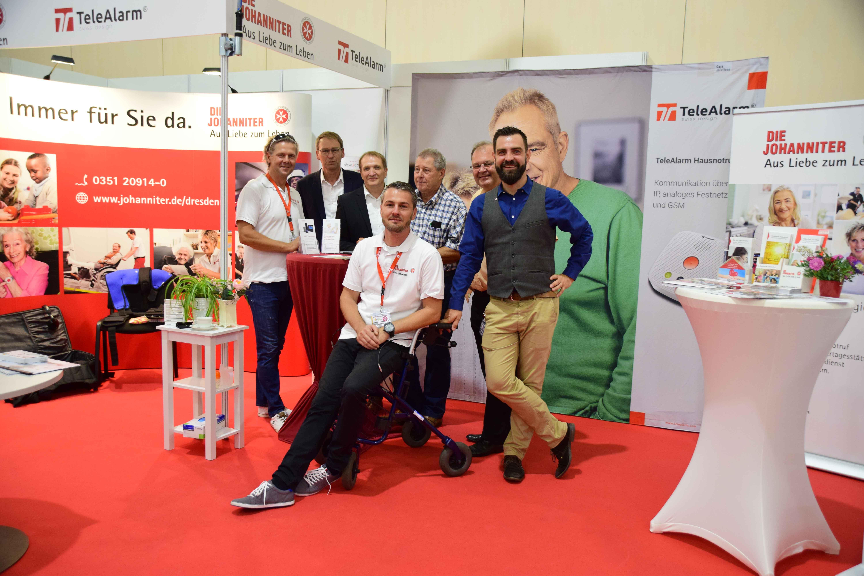 TeleAlarm auf der 4. Pflegemesse in Dresden, zusammen mit der JUH