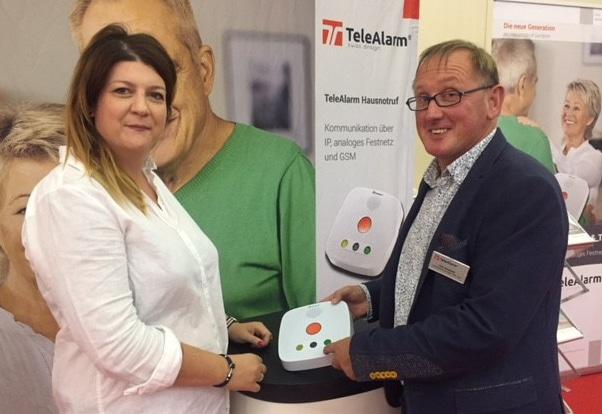 TeleAlarm präsentierte sich auf der 3. Pflegemesse in Dresden