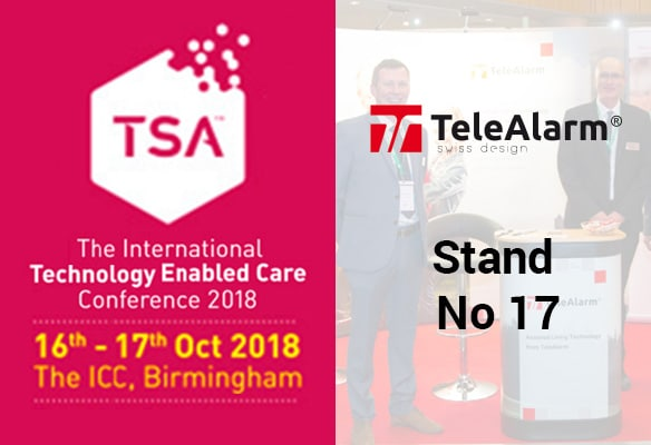 TeleAlarm are exhibiting at the TEC Services Association (TSA) conference in Birmingham
