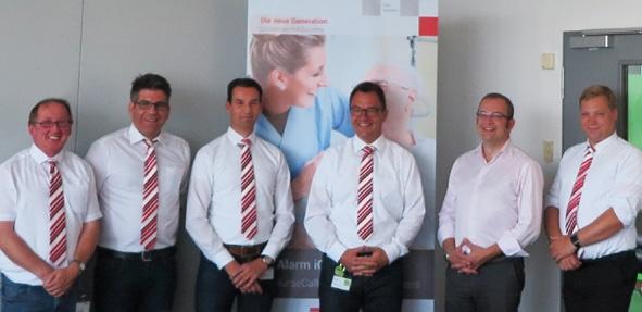 Das Team von TeleAlarm beim NurseCall Day